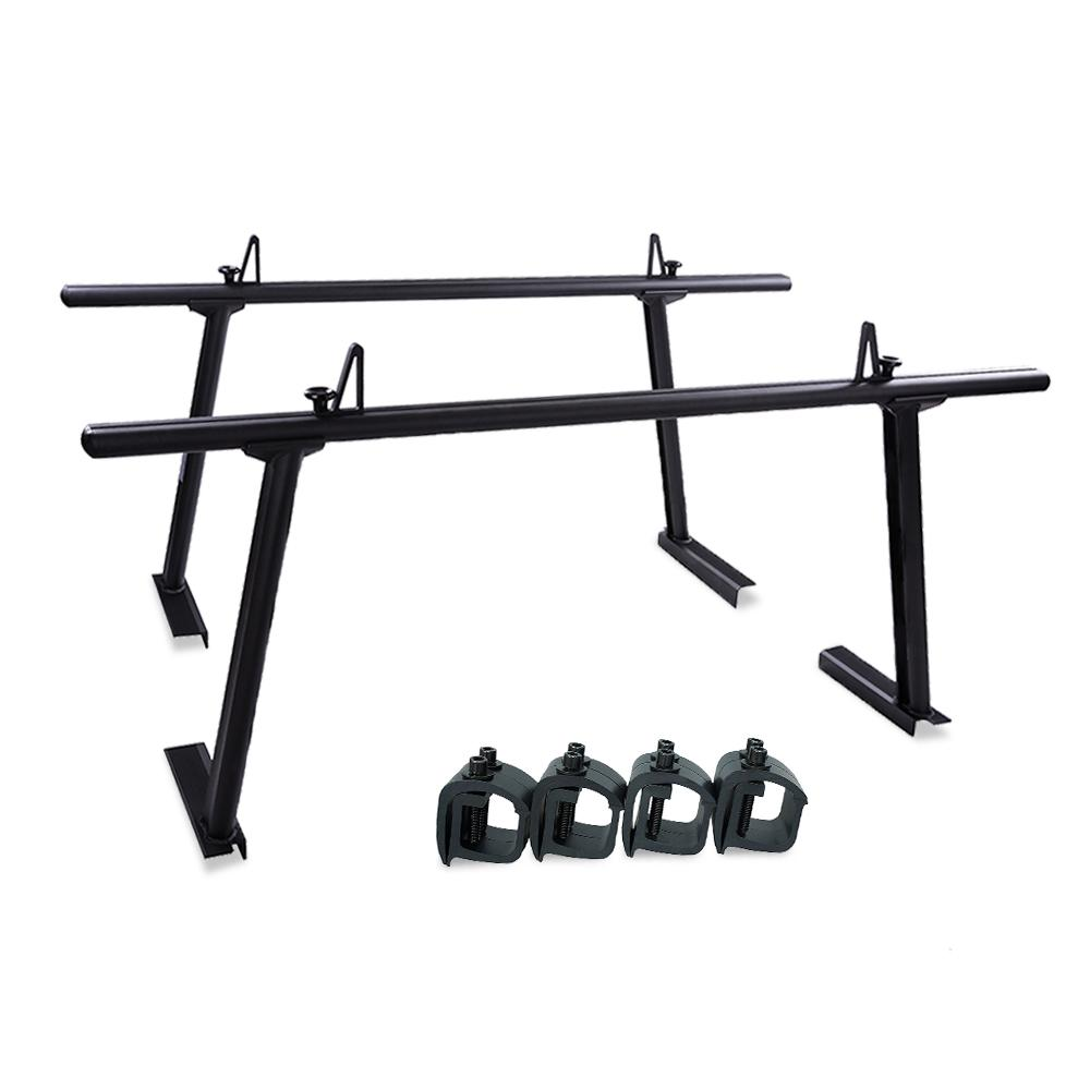 AA-Racks APX25 Extendable Aluminum Pickup Truck Ladder Rack (No drilling required) - Black (APX25-BLK)