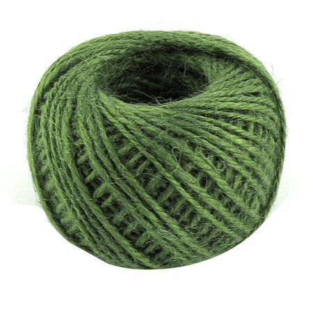 Jute Burlap Ribbon Twine Rope Cord String Pack Roll Green 2mm Dia 50m Length](Green Silly String)