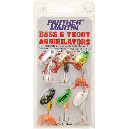 Panther Martin Bass and Trout Annihilators, 6pk