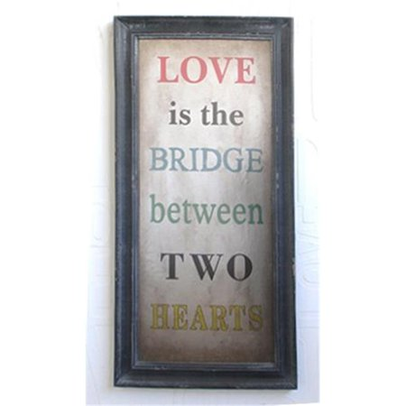 Twg 2 Hearts What Is Love Decorative Wooden Wall Art Sign