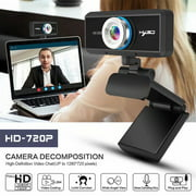 HD 720P Pro Webcam Widescreen Video Calling and Recording Built-in 8m Sound-absorbing Mic HD Computer Camera Compatible with Windows 2000/XP/Win 7/8/10/Vista 32bit, MAC, Android TV