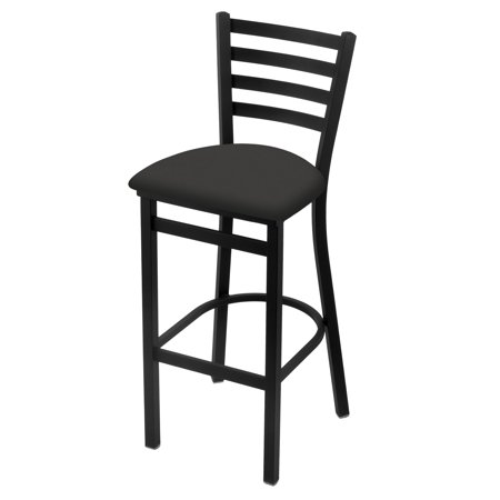 "400 30"" Stationary Bar Stool with Black Wrinkle Finish and Canter Iron Seat"