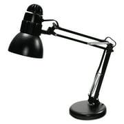 "Ledu Incandescent Knight Swing Arm Desk Lamp, Weighted Base, 22"" Reach, Matte Black"
