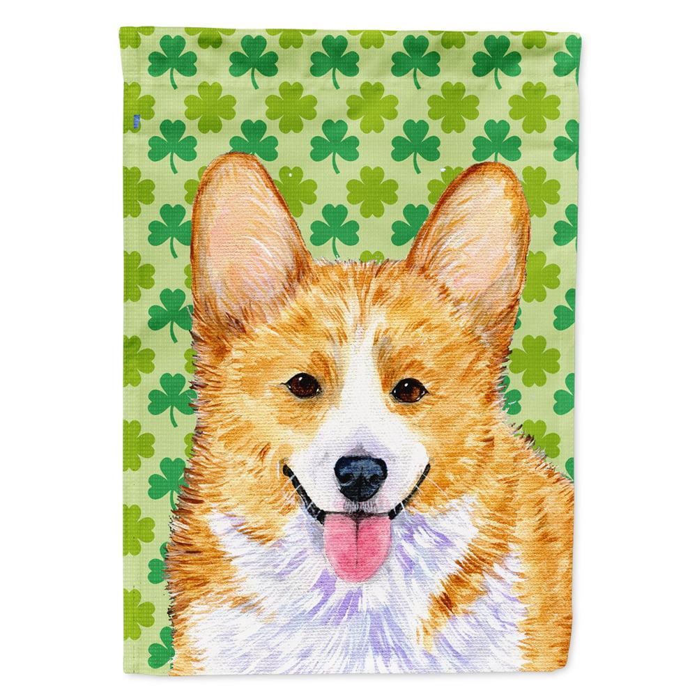 Corgi St Patrick S Day Shamrock Portrait Garden Flag Walmart Com Walmart Com