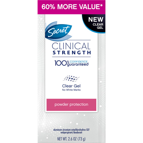 Secret Clinical Strength Clear Gel Women's Antiperspirant & Deodorant, Powder Protection 2.60 oz