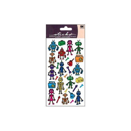 EK Sticko Sticker Colorful Robots