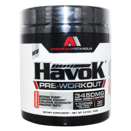 American Metabolix Havok Pre Workout 30 Servings Watermelon 270