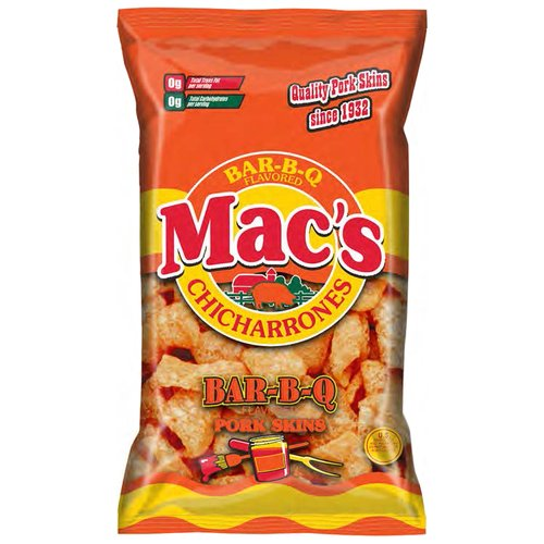 Mac's Bar-B Q Flavored Pork Skins, 5 Oz
