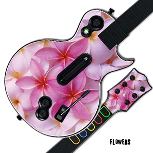 Mightyskins Protective Skin Decal Cover Sticker for GUITAR HERO 3 III PS3 Xbox 360 Les Paul - Flowers
