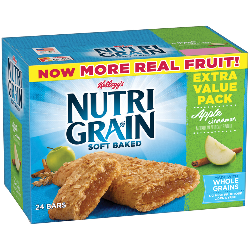 Kellogg's Nutri Grain Soft Baked Apple Cinnamon Breakfast Bars, 24 ct