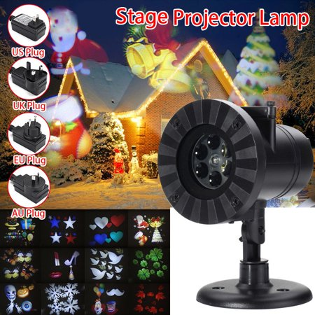 12 Patterns 4W Auto Moving Projector Laser Lamp LED Spotlight Outdoor Landscape for ledstagelight Halloween  Christmas Party Decoration Waterproof IP65AC (Murphy's On The Water Halloween)