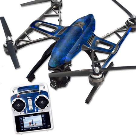 Skin Decal Wrap for Yuneec Q500 & Q500+ Drone Blue Ice
