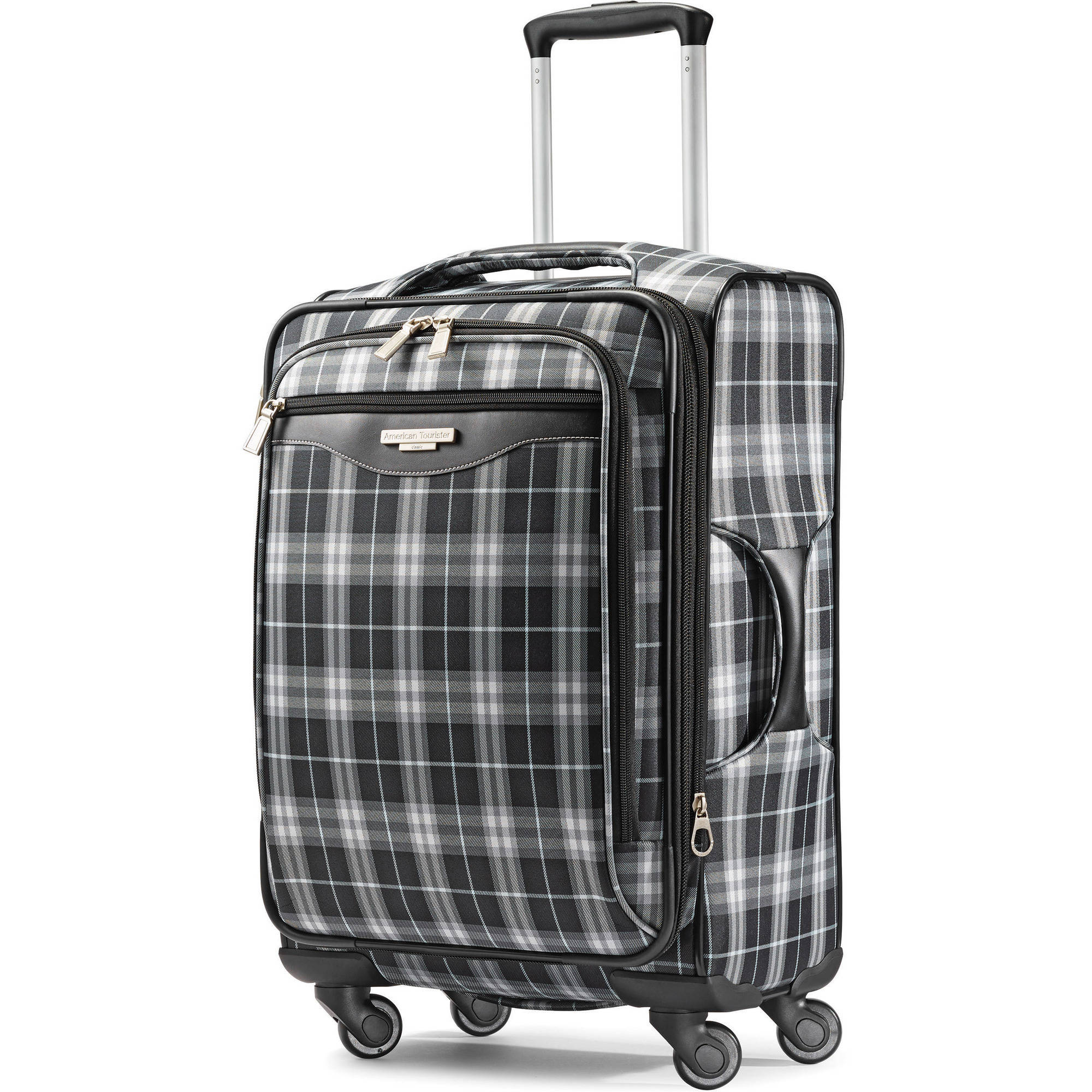 American Tourister Plaid Fashion 21-Inch Spinner Upright