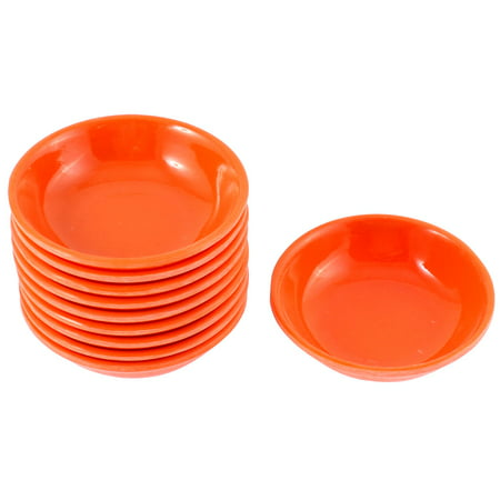 Unique Bargains Kitchen Sushi Soy Sauce Wasabi Dipping Dishes Plate Bowl Orange 10 (Dish Bowl)