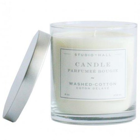 K Hall Designs 60-Hour Vegetable Wax Candle - Washed - Hall Cotton