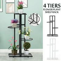 4 Tier Iron Craft Plant Flower Shelf Stand Candle Holder Flower Pot Rack Display Rack Garden Indoor Decor