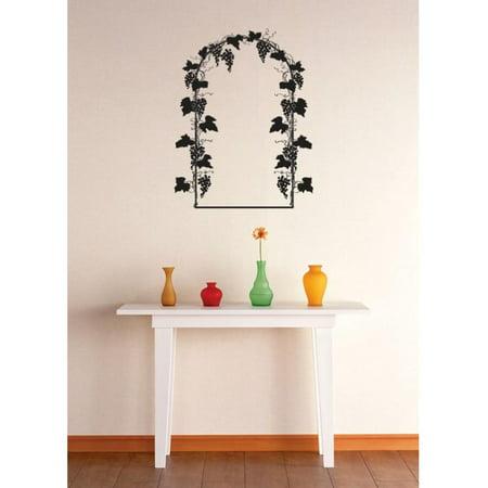 Custom Wall Decal Vinyl Sticker : Grapevine Arch Image Mural 16x24