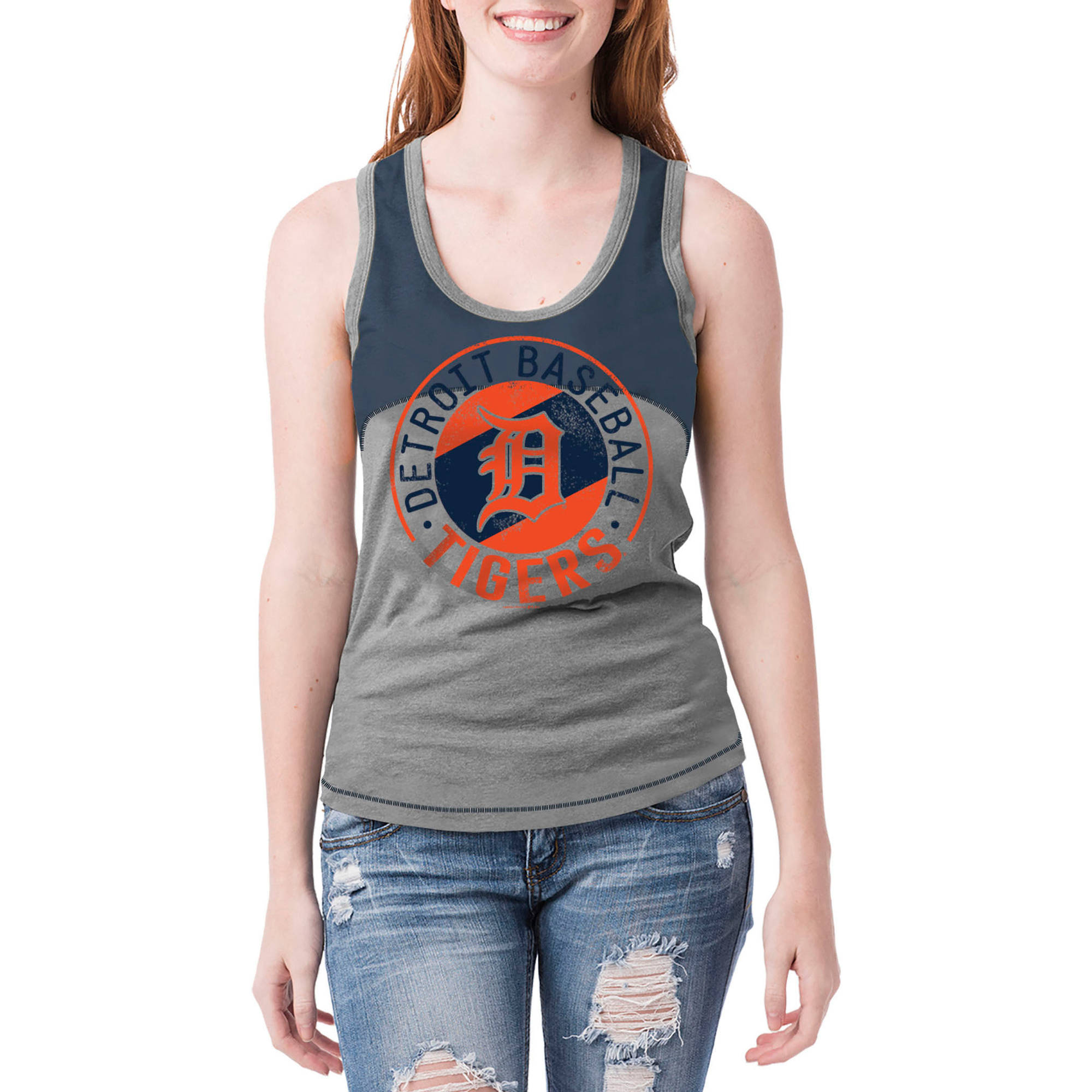 Detroit Tigers Womens Graphic Tank
