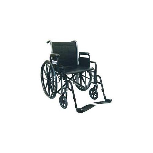 Complete Medical 10965J Wheelchair Econ Rem Desk Arms 20 with SF Dual Axle