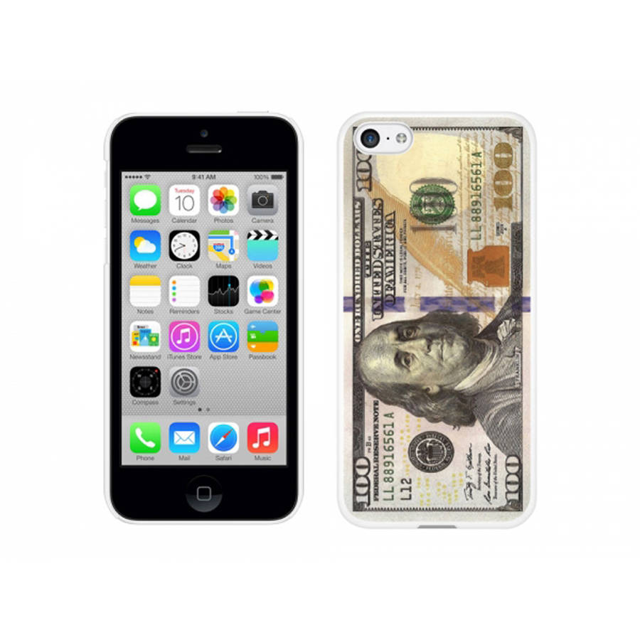 Cellet White Proguard Case with New $100/One Hundred Dollar Bill for Apple iPhone 5c