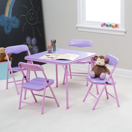 Showtime Childrens Folding Table And Chair Set Walmart Com