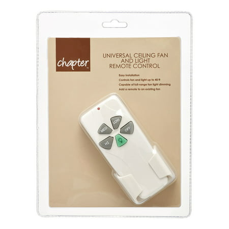 Chapter Universal Ceiling Fan and Light Remote