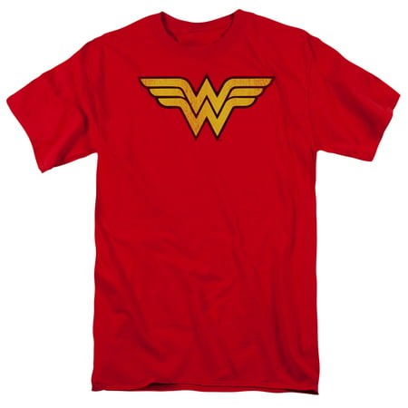 Dc Comics Wonder Woman Logo Dist Mens Short Sleeve Shirt