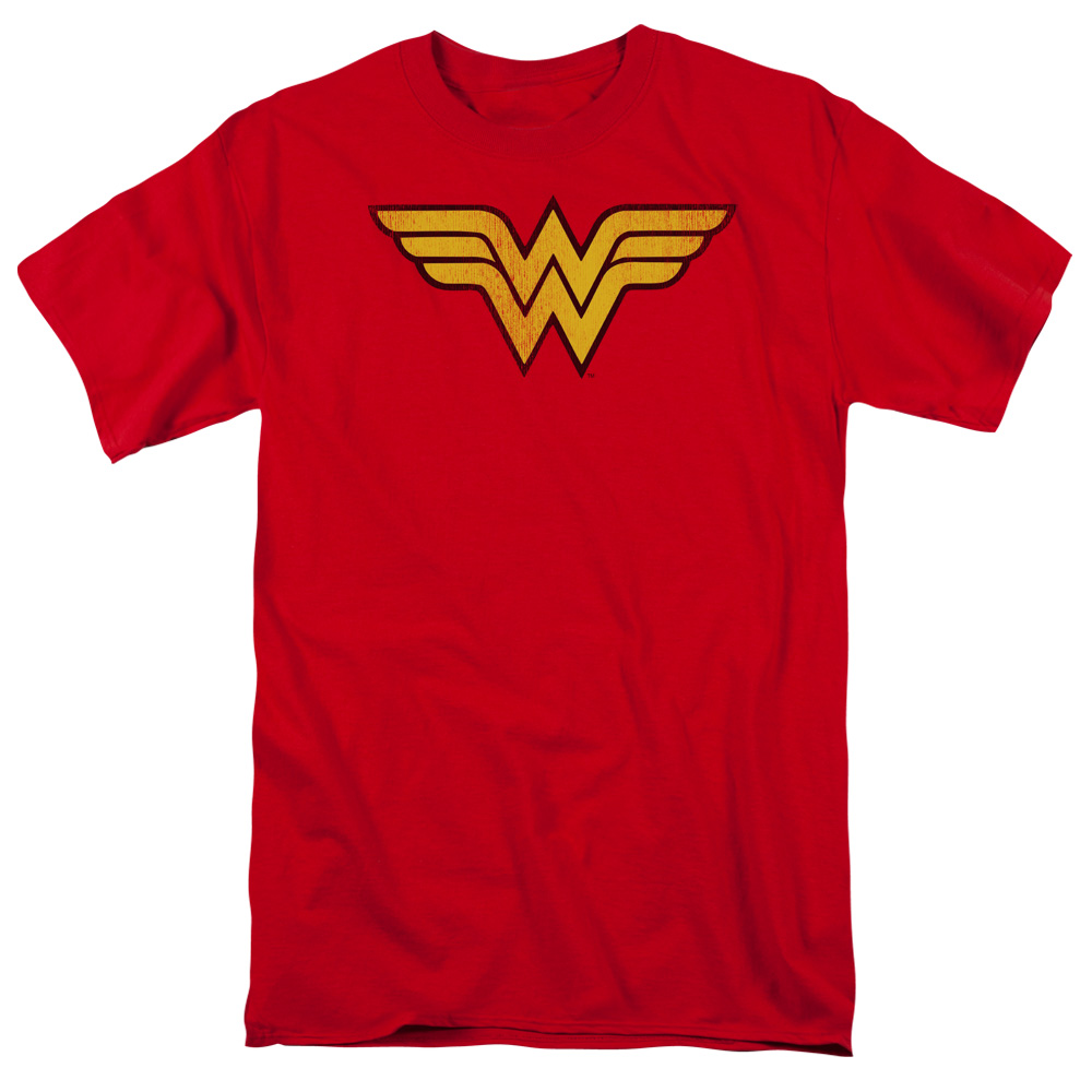 Dc/Wonder Woman Logo Dist S/S Adult 18/1   Red     Dco277