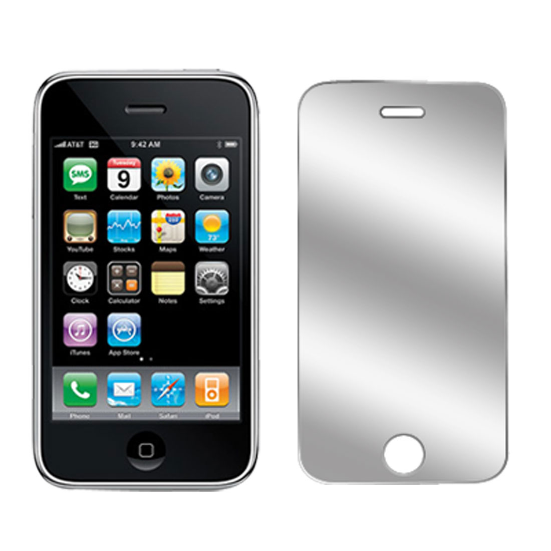 Unique Bargains Clear Replacement LCD Screen Guard Protector for Apple iPhone 3G