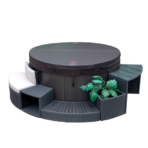 Canadian Spa Co. Round Spa Surround Furniture 5-Piece Set by Canadian Spa Company
