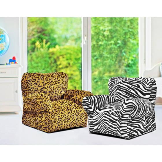 Heritage Kids Leopard Bean Bag Chair Walmart Com