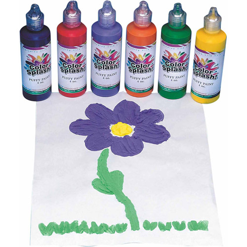 Color Splash! Puffy Paint, Set of 6