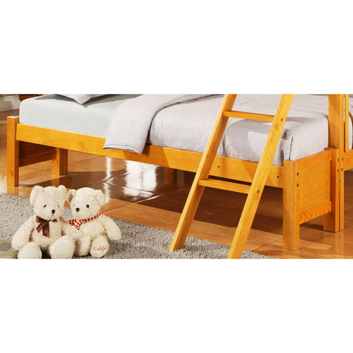 Elise Twin over Full Bunk Bed Conversion Kit, Honey Pine