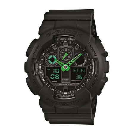Casio Men's XL Series G-Shock Quartz 200M WR Shock Resistant Resin Color: Black (Model GA-100C-1A3CR) ()