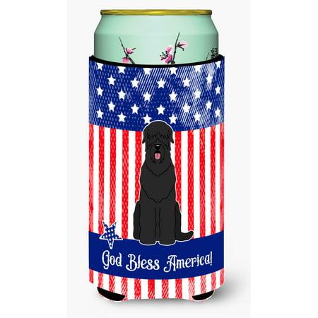 Patriotic USA Black Russian Terrier Tall Boy Beverage Insulator Hugger BB3021TBC