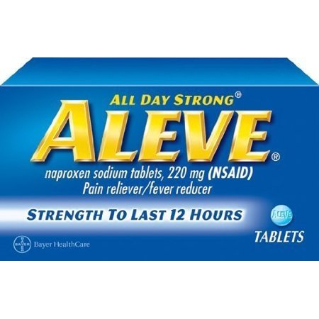 Aleve Tablets with Naproxen Sodium, 220mg (NSAID) Pain Reliever/Fever Reducer, 100