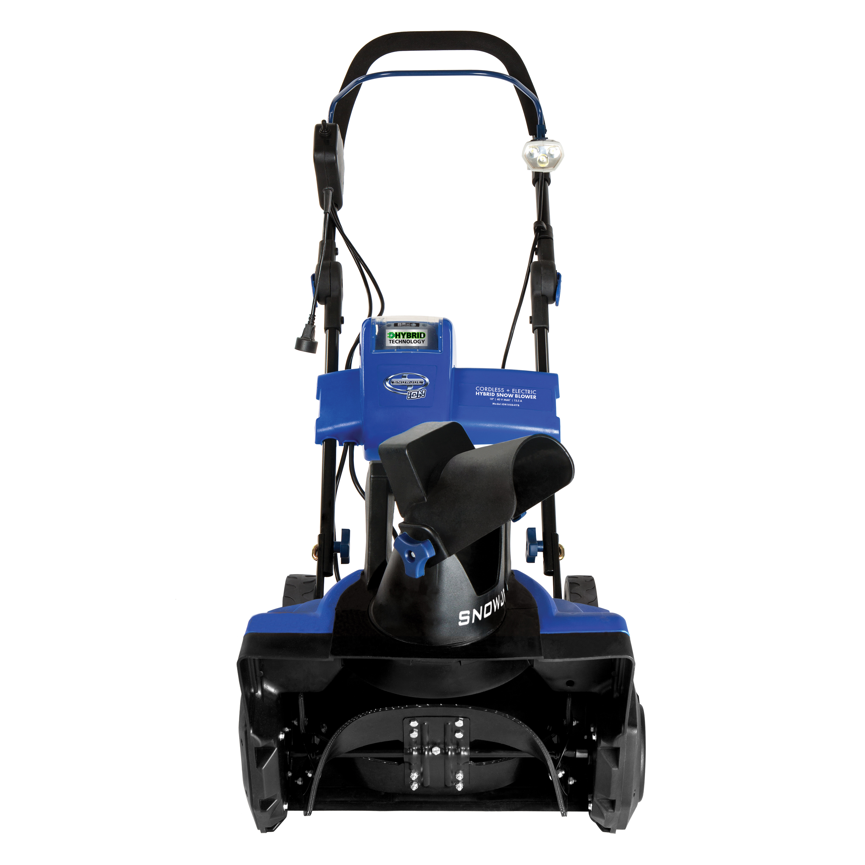 Snow Joe iON18SB-HYB-RM Hybrid Single Stage Snow Blower | 18-Inch · 40 Volt · 13.5 Amp | Brushless (Refurbished)