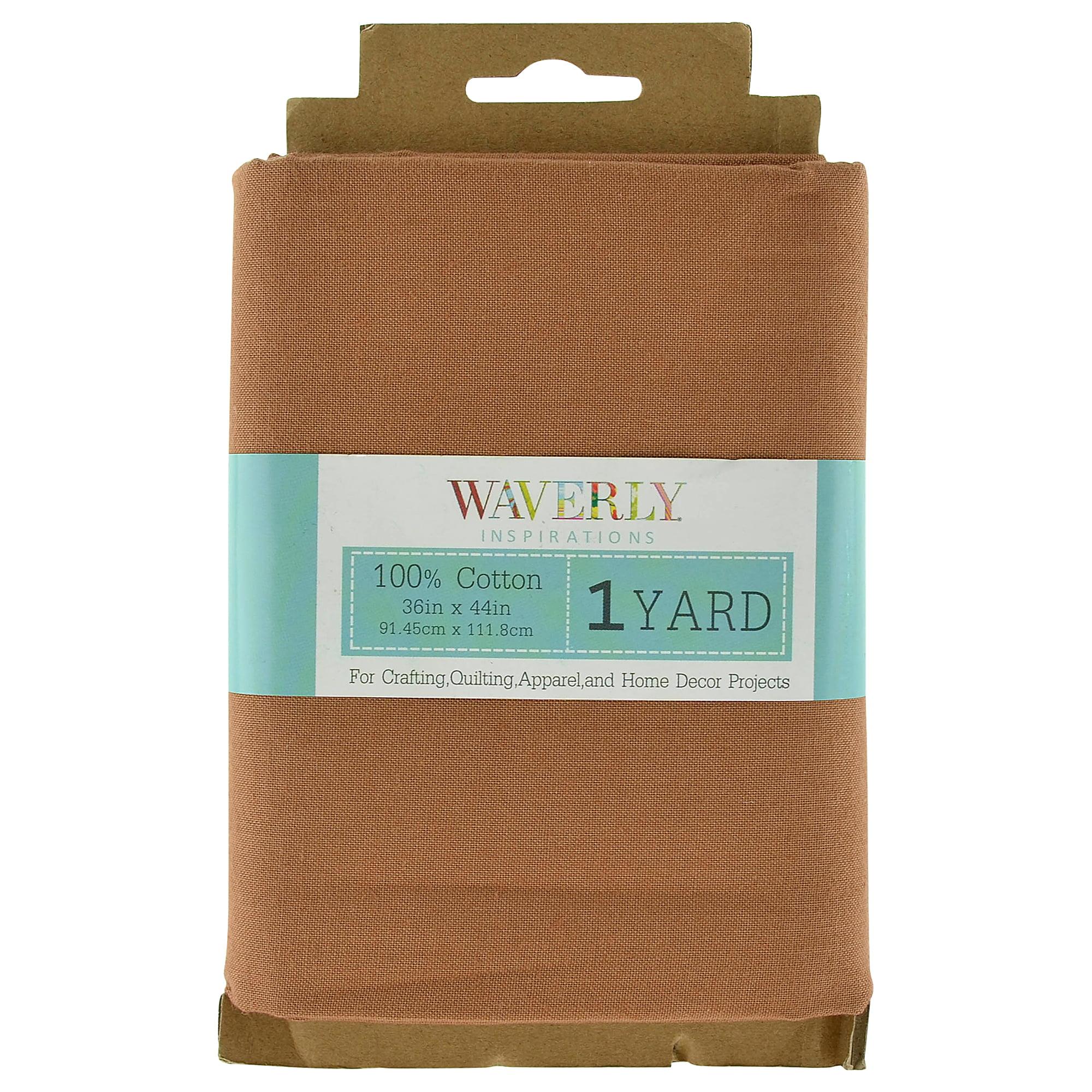 Waverly Inspirations 100 Percent Cotton Fabric, Hazelnut, 1 Yard