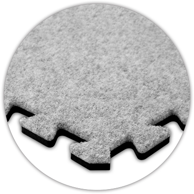 "Premium SoftCarpet Flooring, 10'x10' Floor, Smoke, 5/8"" t..."