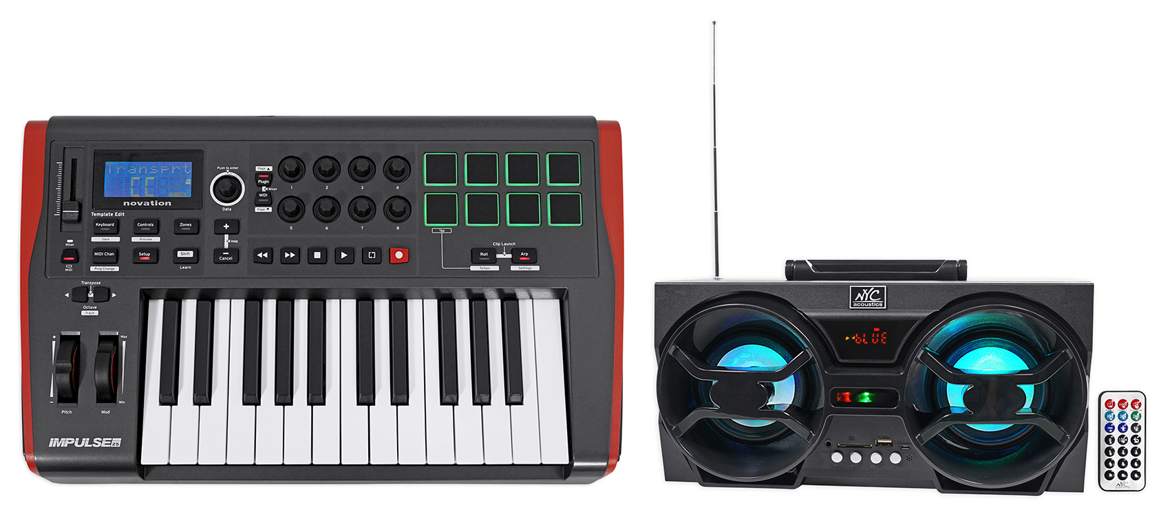 Novation IMPULSE 25 Ableton Live 25-Key MIDI USB Keyboard Controller + Boombox by Novation