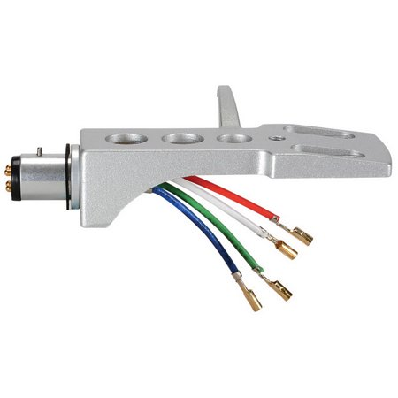 Gold Headshell - A-T Style Phono Headshell with Lead Wires & Gold Plated Contacts