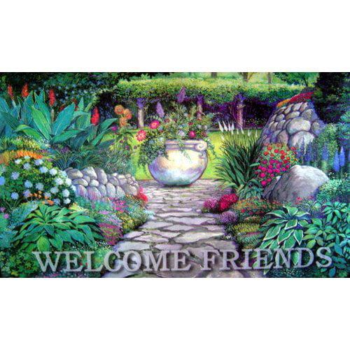 Custom Printed Rugs Welcome Garden Gate Doormat