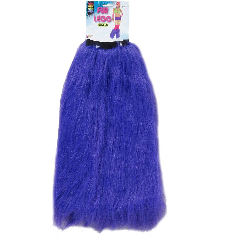 Furry Leg Warmers, Purple