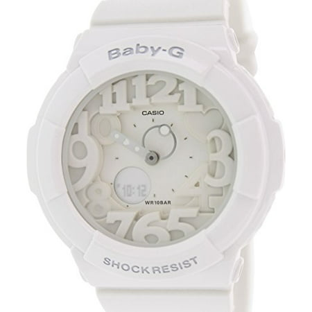 Women's Baby-G BGA131-7B White Plastic Analog Quartz Watch