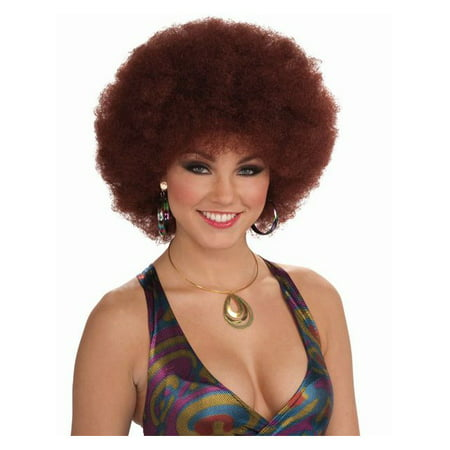 Natural Red Unisex Disco Afro for Adults for $<!---->
