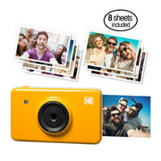 Kodak Mini Shot Instant Film Camera and Photo Printer, includes 8 Prints   Wirelessly Print from your Mobile Device, Full Color 4-Pass Printing, LCD viewfinder   Compatible w/ iOS & Android (Yellow)