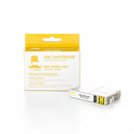 Epson 220XL T220XL420 Compatible Yellow Ink Cartridge High Yield - Moustache® - image 1 of 3