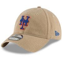 New York Mets New Era Core Classic Secondary 9TWENTY Adjustable Hat - Khaki - OSFA