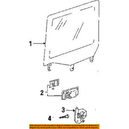 Jeep CHRYSLER OEM 91-95 Wrangler Front Door-Lock Latch Kit