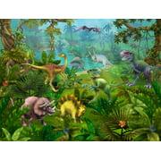 """Dinosaur Utopia"" Wall Decal Poster 18""x24"""